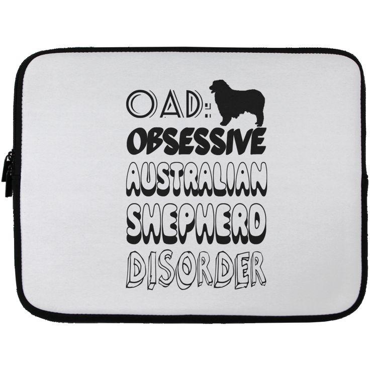 OAD Obsessive Australian Shepherd Disorder Laptop Cases