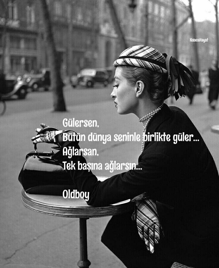 Gülersen, bütün dünya seninle birlikte güler… Ağlarsan tek başına ağlarsın… - Oldboy #sözler #anlamlısözler #güzelsözler #manalısözler #özlüsözler #alıntı #alıntılar #alıntıdır #alıntısözler #şiir