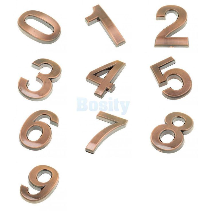 10Pcs Hotel Room Door Number Stickers Home Office Address House Number Signs