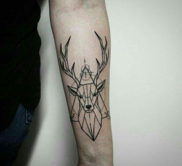 Tattoo geometric deer