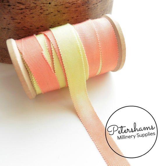 Dip Dye Gradient 15mm No.3 Millinery Petersham Hat Ribbon 1m
