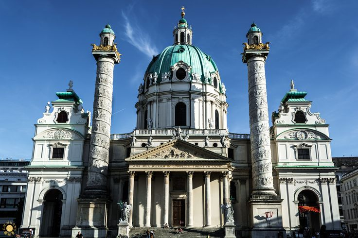 St. Charles Church - St. Charles Church (Karlskirche) - The Church was commissioned by the Emperor after Vienna's last bout of plague