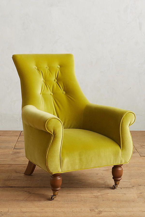Slide View: 1: Velvet Astrid Chair