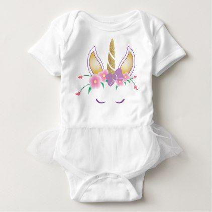 Magical Unicorn Baby Girl Tutu Bodysuit - baby gifts giftidea diy unique cute