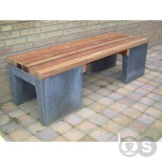 Tuinbank lounge banken hardhouten regels beton duurzaam in meubels en werkbanken 6 garden - Bank voor pergola ...