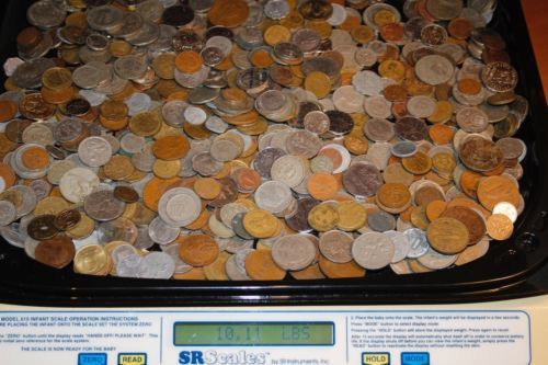 Coin: 10 Lbs Of Mixed Foreign Coins. Best Per Pound Price On Ebay. Free Shipping!!!!!