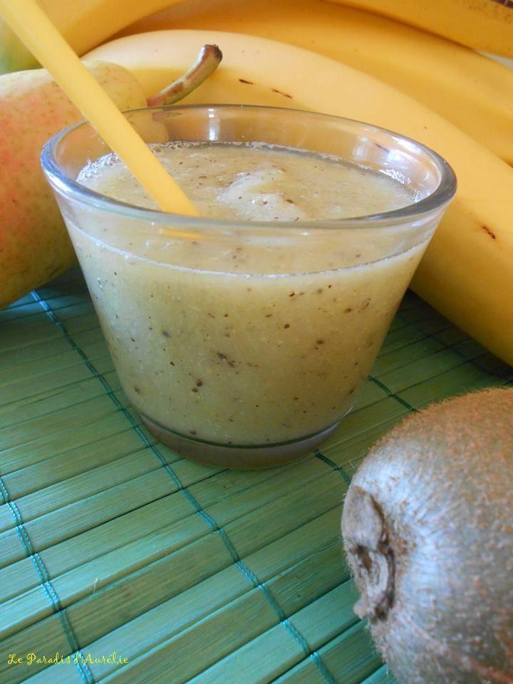 Pour vous remettre du nouvel an, je vous propose ce smoothie qui vous donnera énergie et moral. En effet: la poire est un fruit riche en vitamine C et en potassium, la banane est riche en protéines, en fibres, en phosphore, en fer et en vitamines et minéraux....