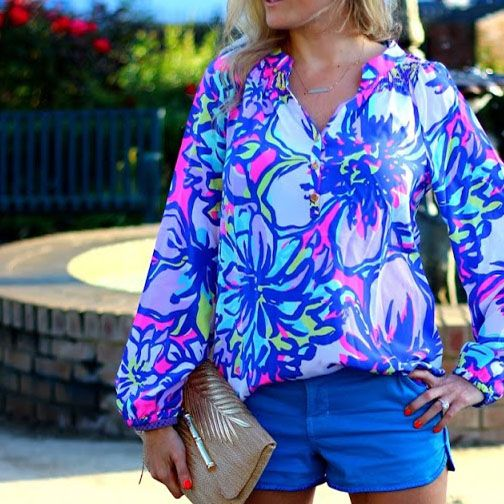 Lilly Pulitzer Elsa Top in Tropical Pink Catwalkin.