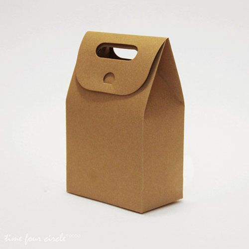 Brown Craft paper  Flat Bottom Wedding Favor Packaging, Party Gift Bags EWFB016 as low as $0.35