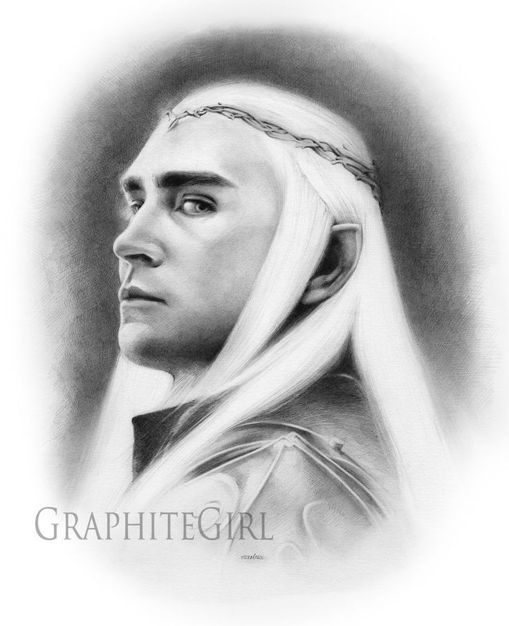 The Hobbit Extended Ed The Battle of the Five Armies Thranduil Original Drawing #Realism