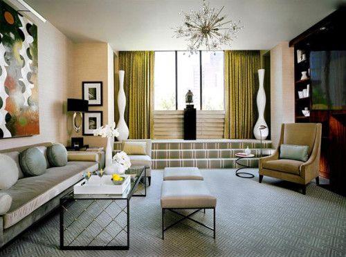 Ретро - дизайн интерьера гостиной