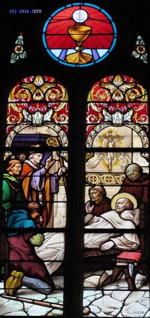 St Yves mourant, béni par l'évêque de Tréguier, église de Plouëzec (22).