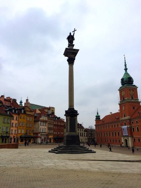 One day in warsaw Castle Square
