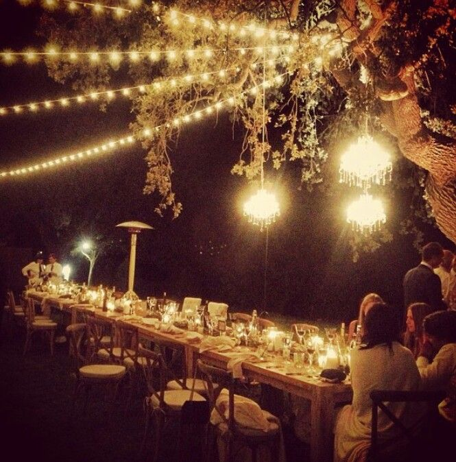 Wedding lights, Make a wedding night so cosy and magical.