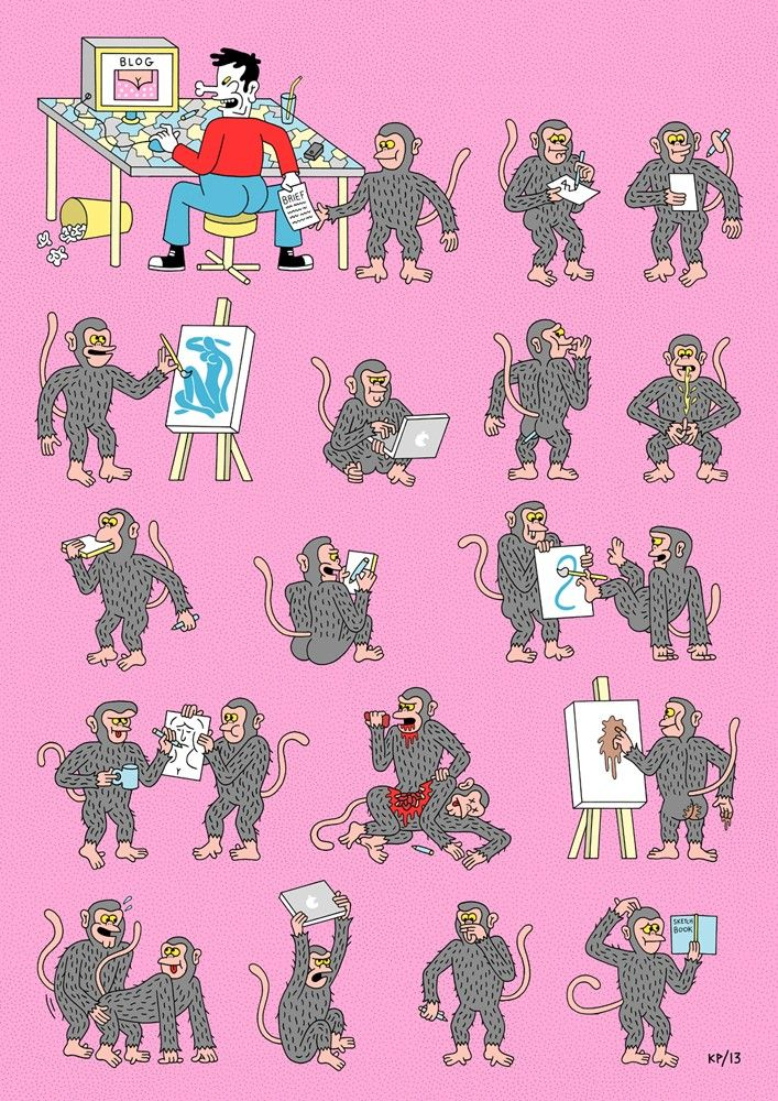 Infinite Monkey Theorem via kyle platts. Click on the image to see more!