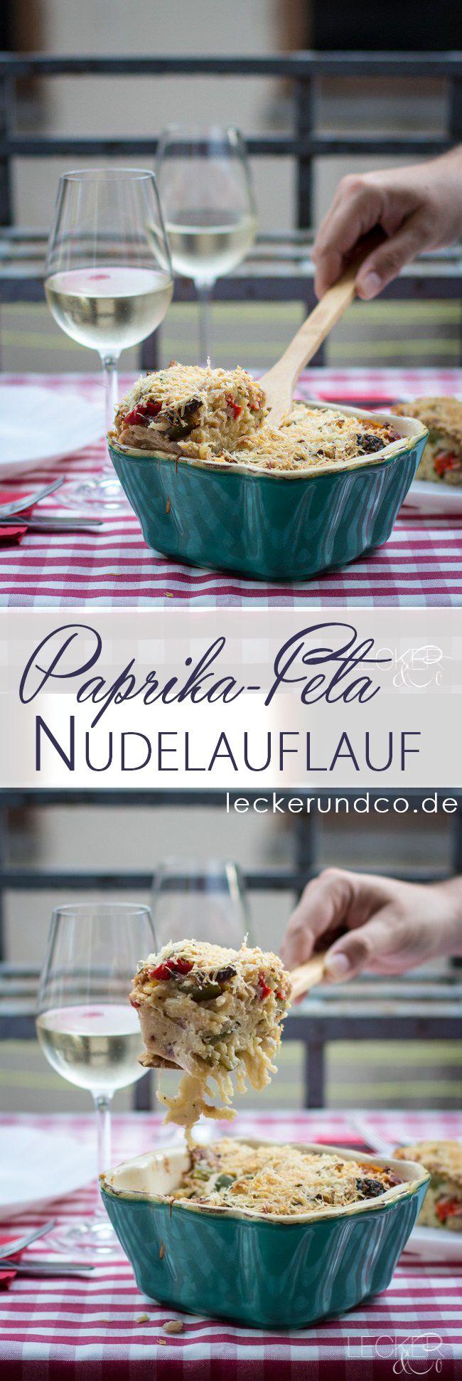 Nudelauflauf mit Paprika, Zucchini und Feta | vegetarisch