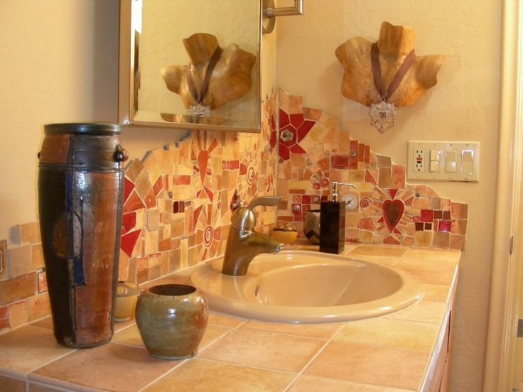 Best Bathroom Tile Ideas Retro Looking Images On Pinterest - Bathroom backsplash tile ideas