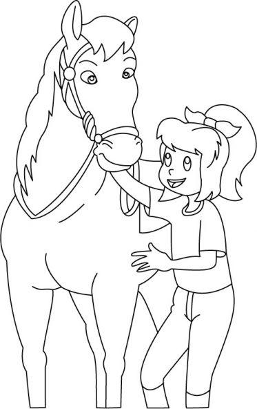 bibi und tina ausmalbilder pferde – Ausmalbilder für kinder