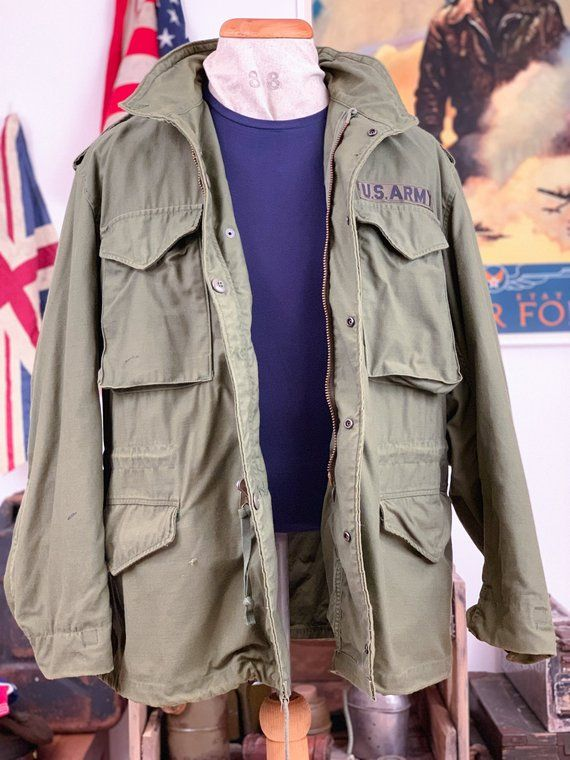 59dd24c4897a2 Vintage Military Authentic Alpha Industries, M65 Field Jacket, 1973 ...