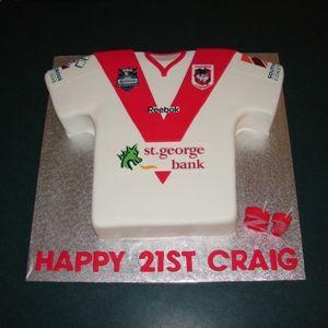 St George Dragons jersey birthday cake