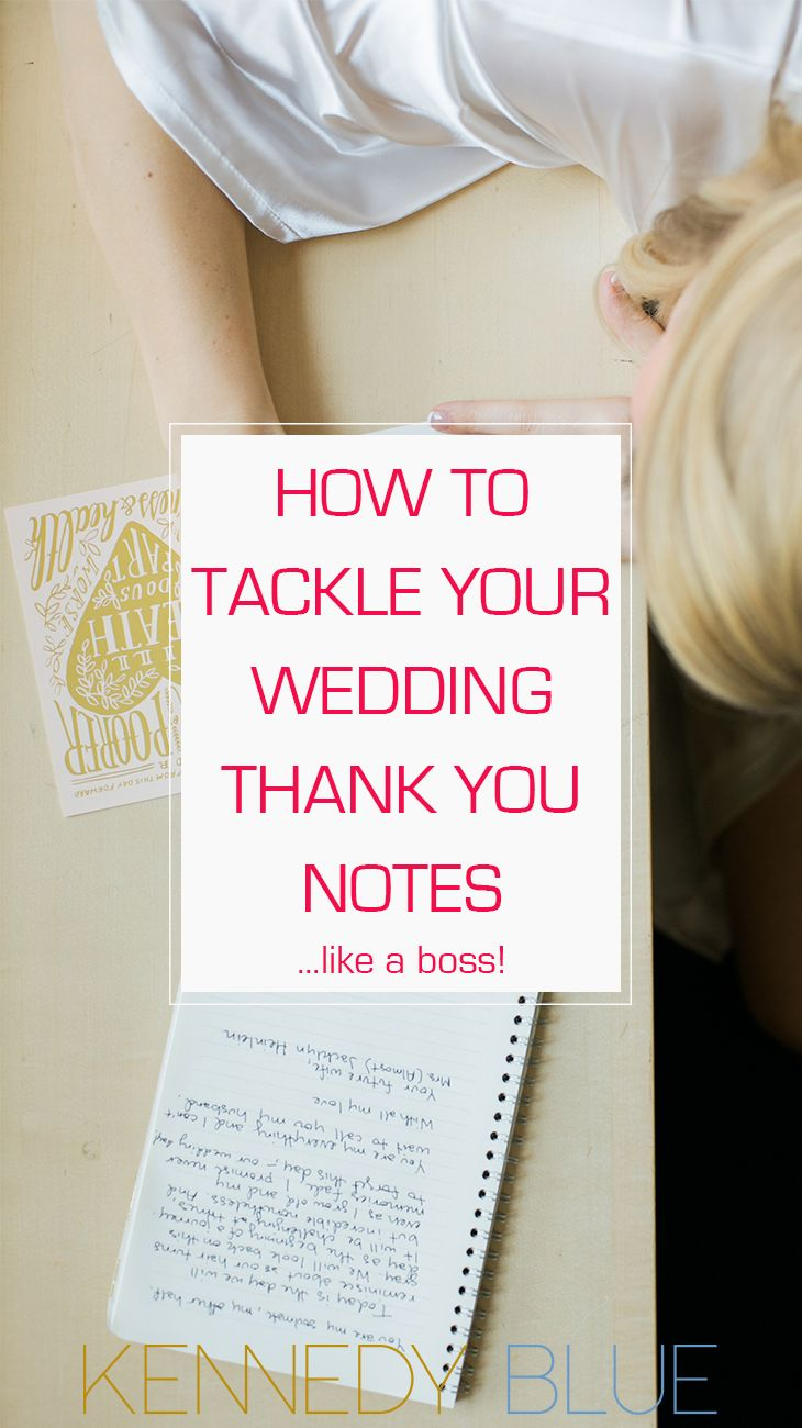 how to tackle wedding thank you notes like a boss