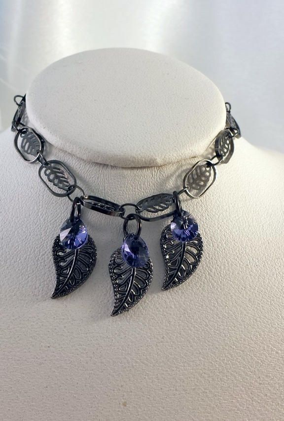 Gunmetal Swarovski Crystal Bracelet - Jewelry creation by K. Lynn Designs