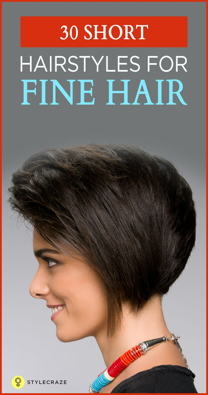 Best Short Hair Images On Pinterest - Fine hair styling