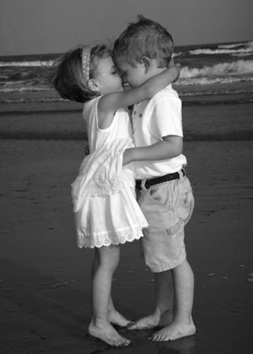 First Kiss #cute #kids