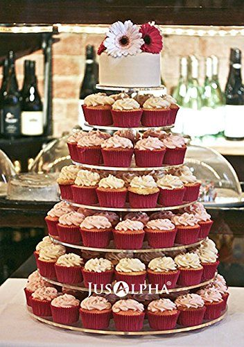 wedding cup cake stands 7 tier wedding cupcake and dessert tower 18 inches 8965