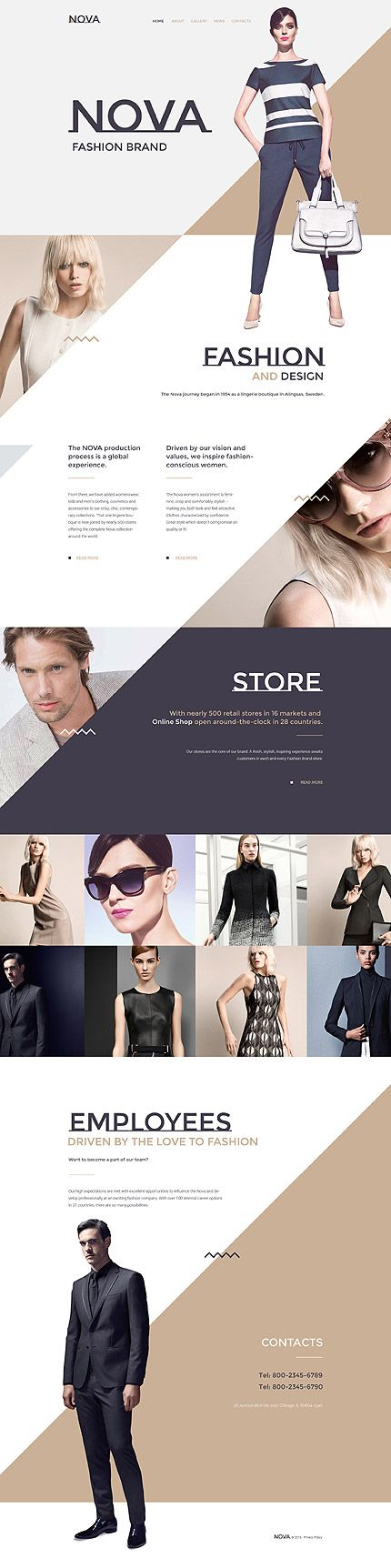 Trendy Fashion Brand #website #template. #themes #business #responsive #websitethemes