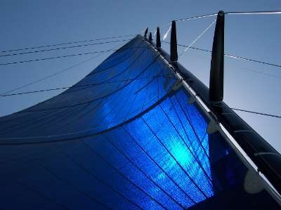 My absolute favorite Mainsail~  My husband has pieces of this hanging in his shop.  I also have a suit of duffle luggage from this sail that was custom made by SeaFever Gear~