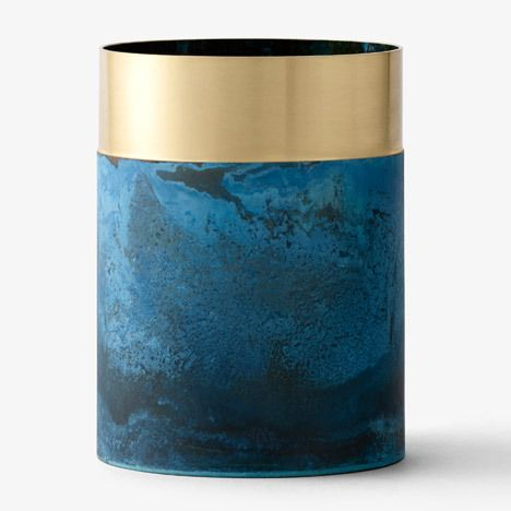 Lex Pott; Oxidized Brass 'True Colours' Vase for &tradition, 2015.