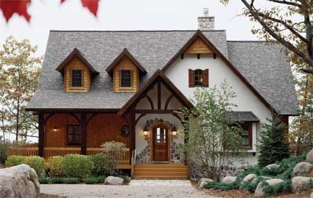 Timber Frame House Plan of Town & Country Cedar Homes Elevation - my dream home!