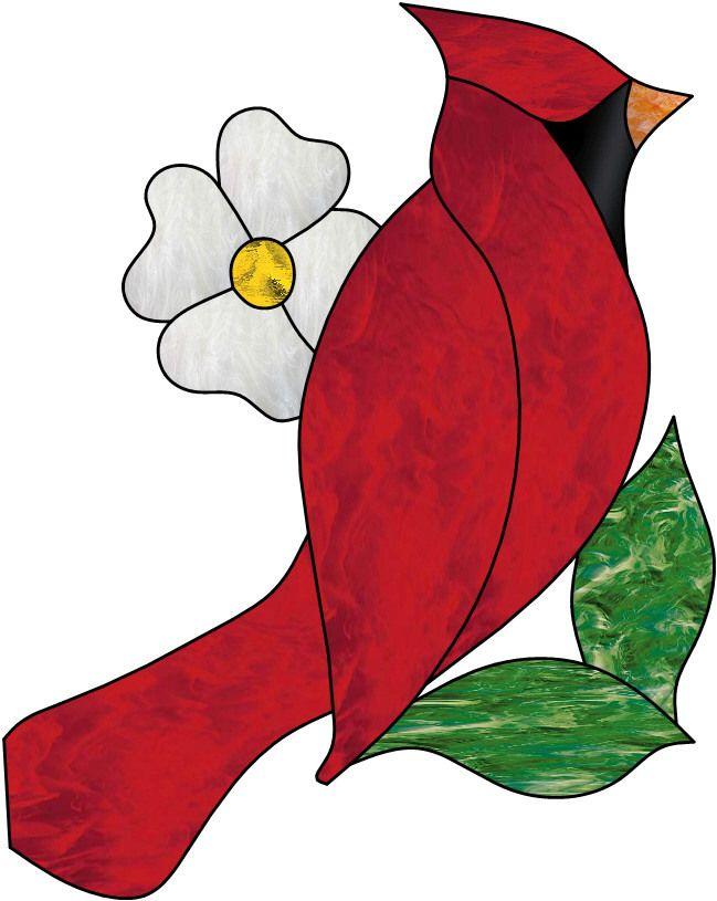 Vitrail ' Oiseau Cardinal '