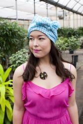 The big vintage fabric Head Scarf is one of my summer favourites.   http://www.mapleandoakdesigns.com