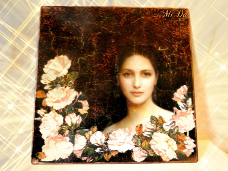 face with Roses plate
