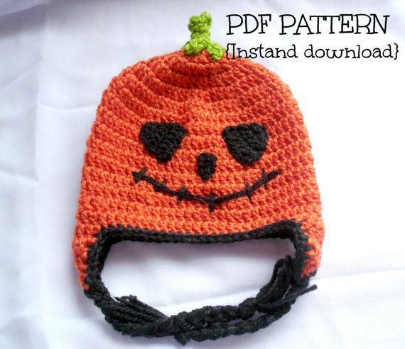 Crochet Hat Pattern Crochet Halloween Hat Pumpkin Hat