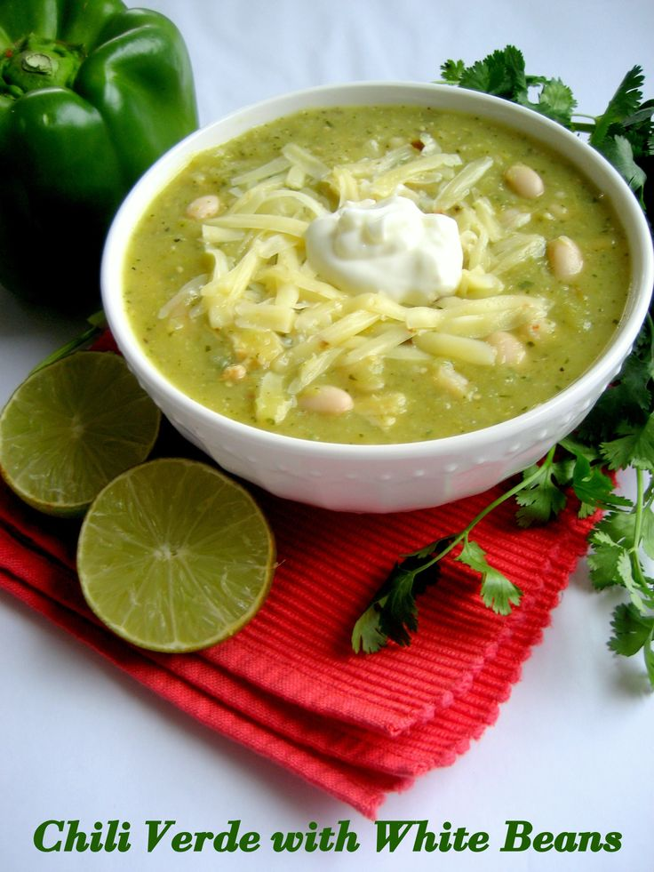 Chili Verde with White Beans | Recipe | Chili, Beans and White beans