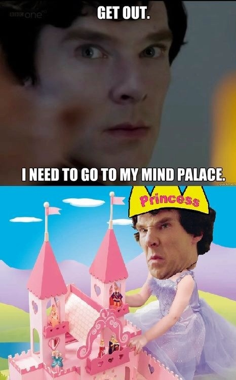 Sherlock's mind palace. No Moriartys allowed.