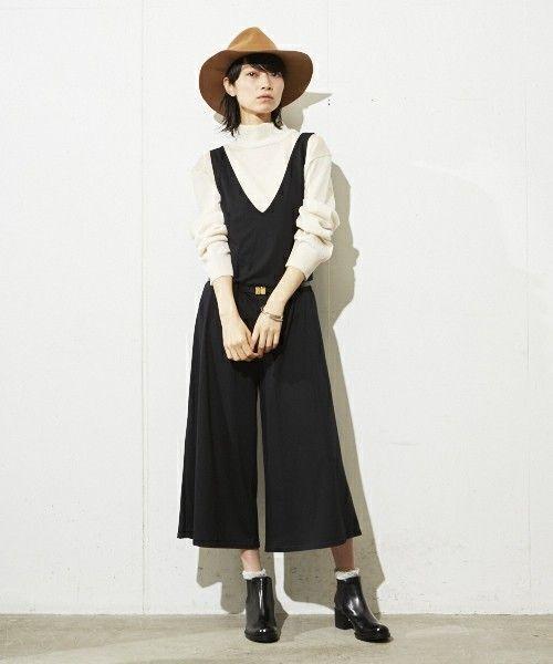 女性らしい上品なシルエット♡ガウチョオールインワンコーデ♪スタイル・ファッションの参考に☆