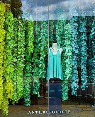 The window display for Anthropologie - amazing hues.
