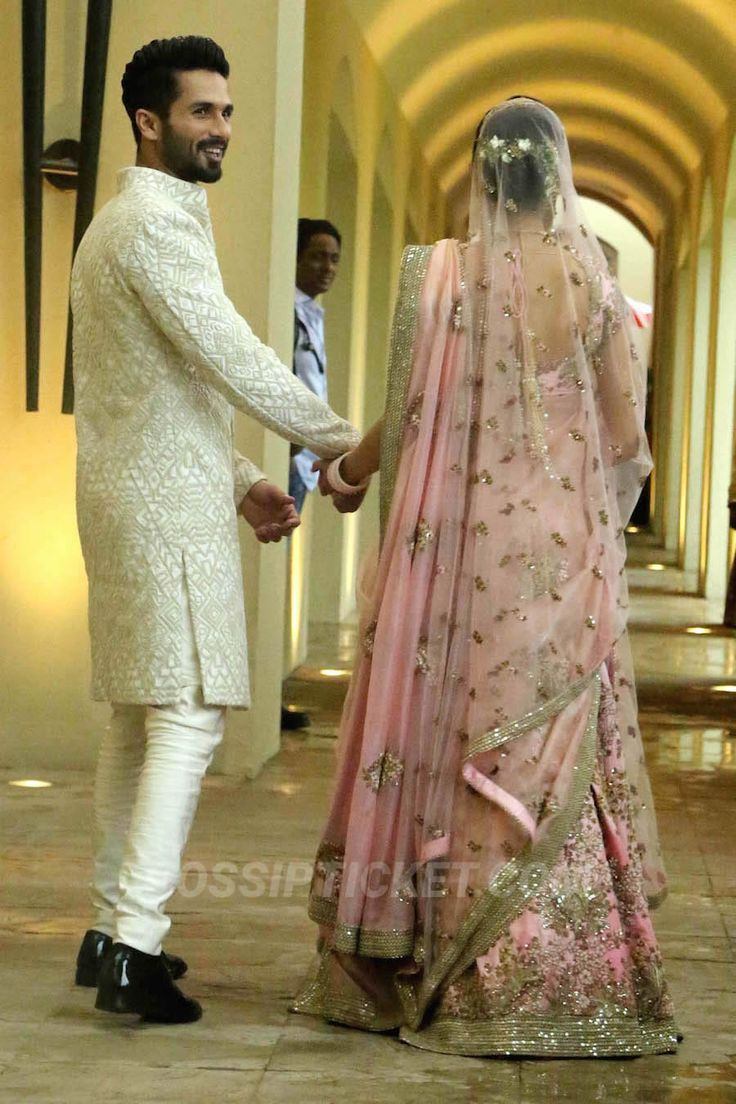 Shahid Kapoor and Mira Rajput after their wedding in a hotel in Gurgaon on July 7, 2015.