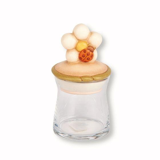 Barattolo in vetro piccolo Country fiore e coccinella - Thun