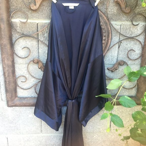 | Victoria's Secret | Satin Kimono Robe All wrapped up in something luxe: a smooth satin kimono with wide sleeves and pockets. Navy Blue almost black. Check out my closet for more Victoria's Secret listings ! Victoria's Secret Intimates & Sleepwear Robes