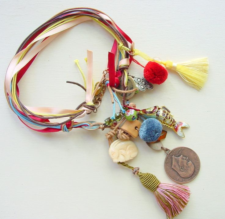 Celcia C. Rio Nat.JPG A fun and festive collection featuring pompons, ribbon, leather, wooded beads, and tassles galore! It was about Latin music, rythums, and colour.