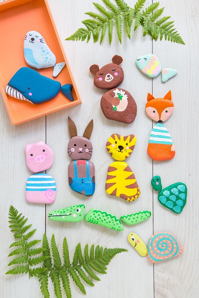 Paint stones – sweet game idea for children