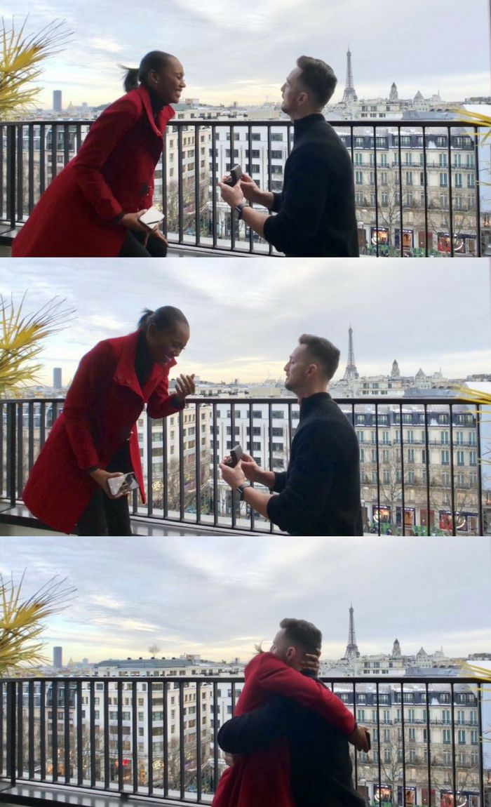 He popped the question in France, and he even learned to propose in her second language!