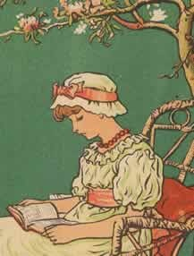 Anything Illustrated by Kate Greenaway - I would spend many young childhood afternoons painstakingly copying and coloring her pictures, and I can't see an apple blossom tree without thinking of those sweet, quiet scenes.