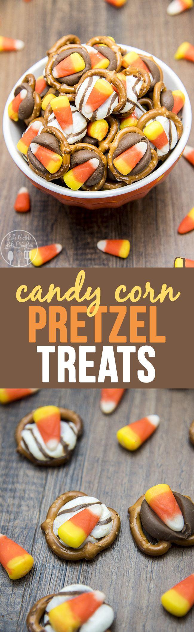 Candy Corn Pretzel Treats
