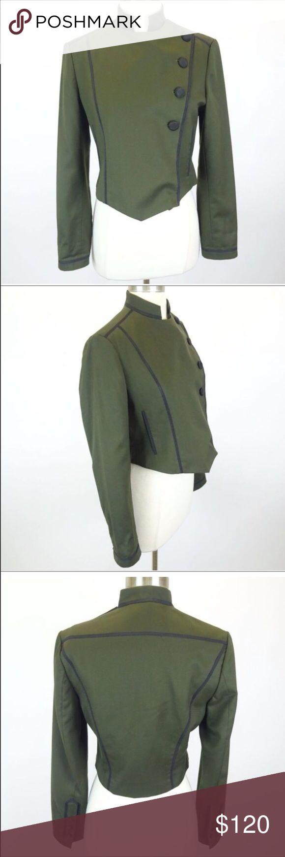 Khloe kardashian own Grace Sun cropped jacket Grace Sun Army Green Button up cropped jacket. Khloe's own item, from her charity auction on eBay. Fits like small/medium. See list of measurements above. Questions please let me know. Grace Sun Jackets & Coats